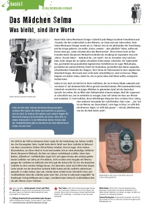 Unterrichtsmaterialen, Basis-Bogen, Das Mädchen Selma, Seite 1