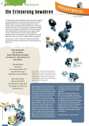 Unterrichtsmaterialen, Bogen F, Die Erinnerung bewahren, Seite 1