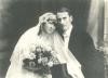 altes, schwarz-weißes Hochzeitsfoto von Max und Frieda Meerbaum