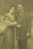 altes, sepiafarbenes Foto von Selmas Eltern, Max und Frieda Meerbaum