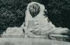 altes schwarz-weiß-Foto von einem Bismaerckdenkmal an der Habsburghöhe, einem Park in Czernowitz