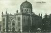 alte, schwarz-weiße Postkarte von Czernowitz, darauf zu sehen ist der Tempel - die größte Synagoge der Stadt