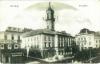 alte, schwarz-weiße Postkarte von Czernowitz, darauf zu sehen ist das Rathaus